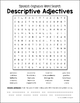 Spanish Adjectives Word Search