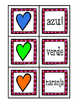 Spanish Color Memory Game - Valentine's theme!