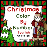 Spanish Color by Number Christmas Holiday Theme