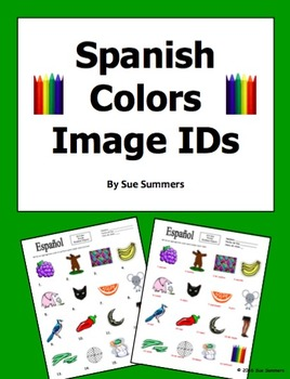 Spanish Colors 16 Image IDs - Los Colores