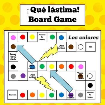 Spanish Colors Board Game - ¡Qué lástima!