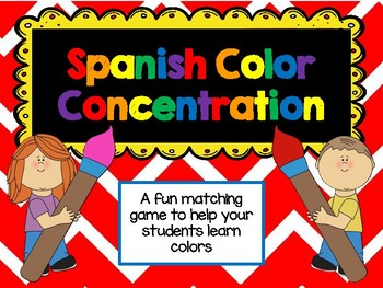 Spanish Colors Concentration