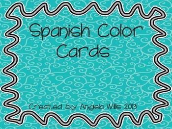 Spanish Colors Flashcards (Los colores)