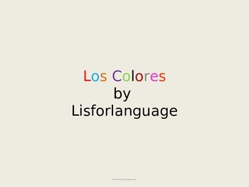 Spanish Colours- Los Colores