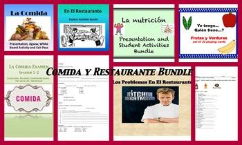Spanish Comida y Restaurante Bundle