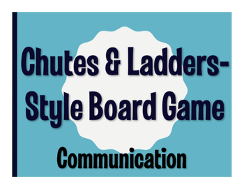 Spanish Communication Chutes and Ladders-Style Game