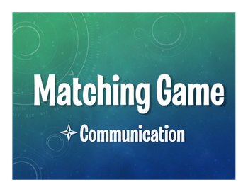 Spanish Communication Matching Game