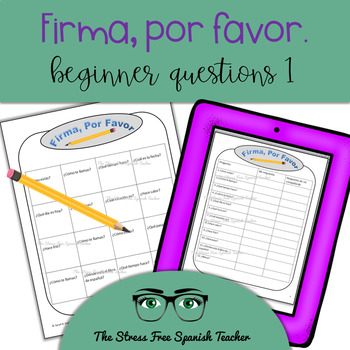 Spanish Communicative Activity, Questionnaire, Survey, Beg