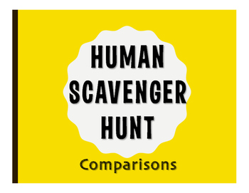 Spanish Comparisons Human Scavenger Hunt