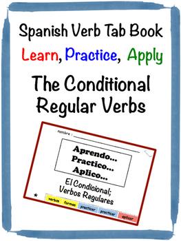 Spanish Conditional (Regular) Tab Book