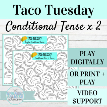 Spanish Conditional Tense TACO TUESDAY Conjugation Games,
