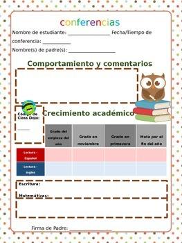 Spanish Conferences Sheet