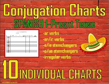 Spanish Conjugation Charts (Present Tense)