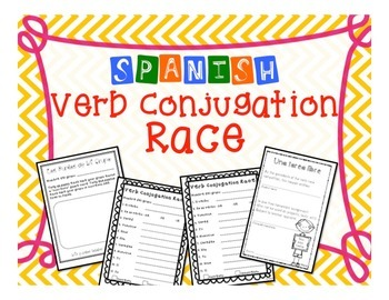 Spanish Verb Conjugation Game Activity for All Verbs in Al