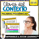Spanish Context Clues Task Cards   SET 1: Multiple Meaning Words