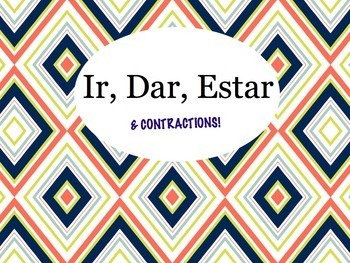 Spanish IR, DAR, ESTAR, and Contractions Keynote for Mac,