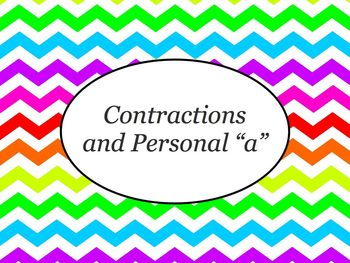 Spanish Contractions & Personal A PowerPoint Slideshow Pre