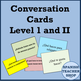Spanish Conversation Cards Levels 1 & 2 - Oral Speaking Activity