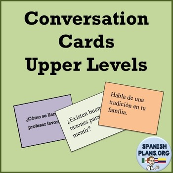 Spanish Conversation Cards Levels 3-4