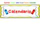 Spanish Crayon and Cloud Theme Calendar