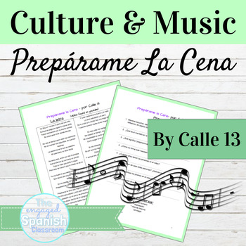 """Spanish Commands and Culture through Music: Calle 13 """"Prep"""