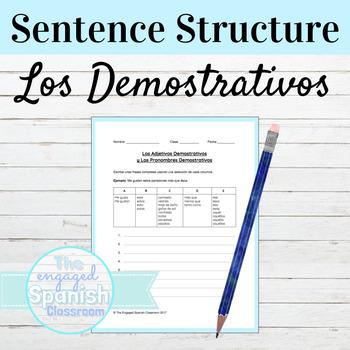 FREE Spanish DEMONSTRATIVES Grammar Worksheet: Exprésate 2