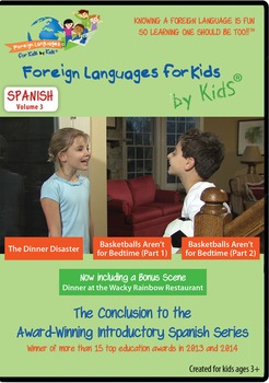 Spanish DVD for Kids Volume III