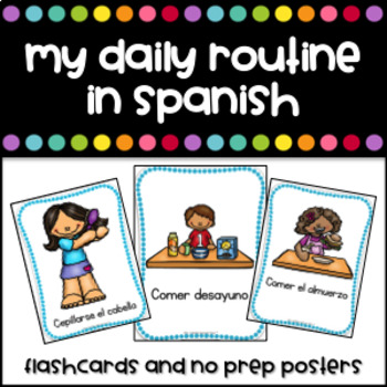 Mi Rutina Diaria - Flashcards (My daily routine in Spanish)