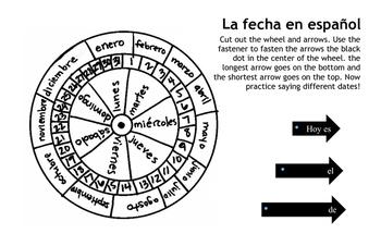 Spanish Date Wheel/ Rueda para la fecha