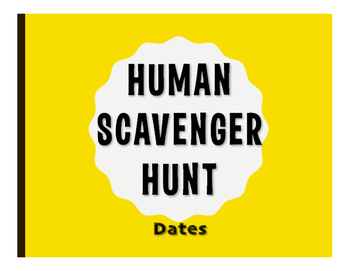 Spanish Dates Human Scavenger Hunt