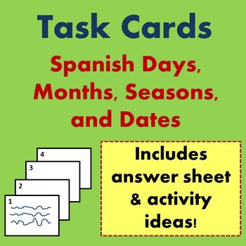 Spanish Dates Task Cards