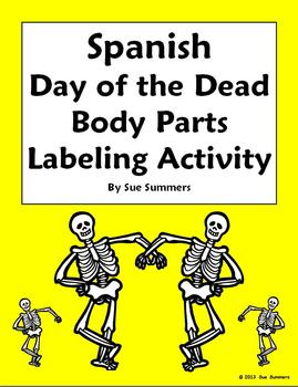 Spanish Day of the Dead / Halloween Body Parts Label the S
