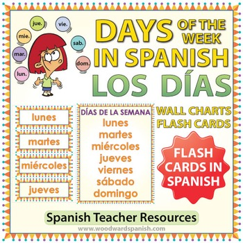 Spanish Days Flash Cards / Wall Charts - Los días de la semana
