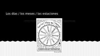 Spanish Days/Months/Seasons PPT Dias/Meses/Estaciones