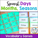 Spanish Days, Months, and Seasons Matching Squares and Fla