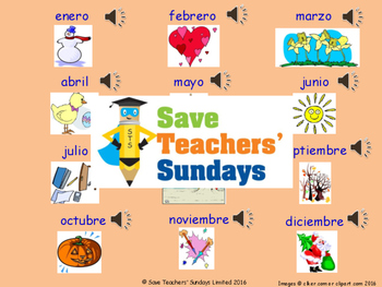 Spanish Days and Months Unit (6 lessons) - All lessons hav