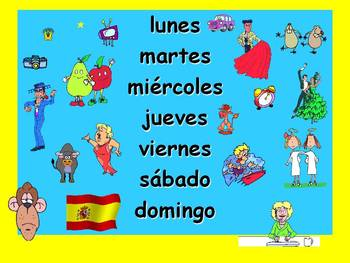 Spanish Teaching Resources. Days of the Week PowerPoint: 2