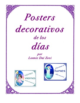 Spanish Decorative Posters of the Days by Lonnie Dai Zovi