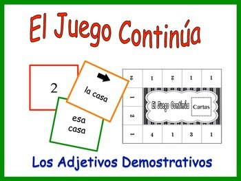 Spanish Demonstrative Adjective Activity for Groups
