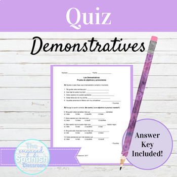 Spanish Demonstrative Adjectives and Pronouns Quiz: Los De