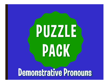 Spanish Demonstrative Pronoun Puzzle Pack