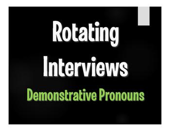 Spanish Demonstrative Pronoun Rotating Interviews
