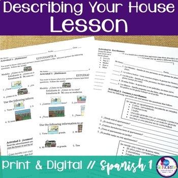 Spanish Describing Your House Lesson