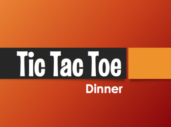 Spanish Dinner Tic Tac Toe