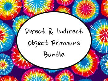 Spanish Direct & Indirect Object Pronouns BUNDLE- Slidesho