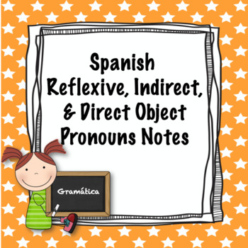 Spanish Reflexive, Indirect Object, and Direct Object Pronouns