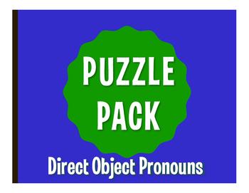 Spanish Direct Object Pronoun Puzzle Pack