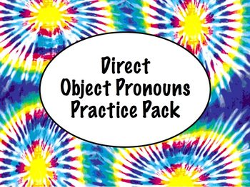 Spanish Direct Object Pronouns Worksheets Practice Pack