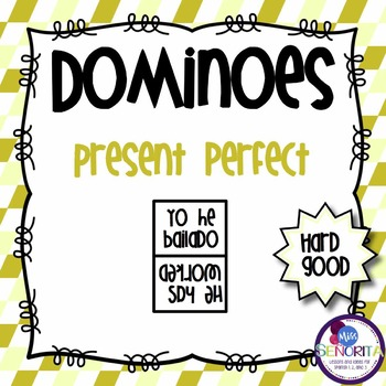 Spanish Dominoes - Present Perfect Tense {HARD GOOD}