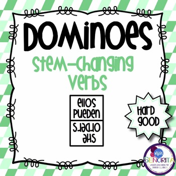 Spanish Dominoes - Stem-Changing Verbs {HARD GOOD}